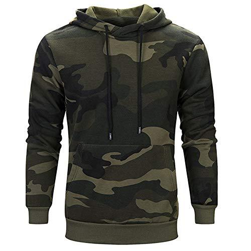 Buby Herren Tactical Combat Shirt Slim Fit Langarm Camouflage Shirt Paintball Sweatjacke Army Hemd Bundeswehr T-Shirt Militär Uniform Pullover Sweatshirt Hoodie Sweater Camouflage Kapuzenpullover
