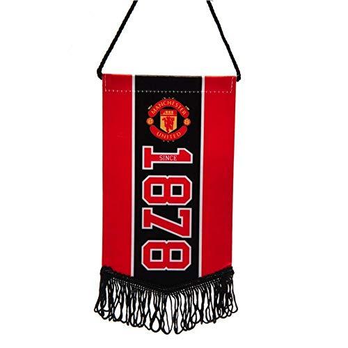 Manchester United FC Gründungsjahr Mini Wimpel (Einheitsgröße) (Rot)