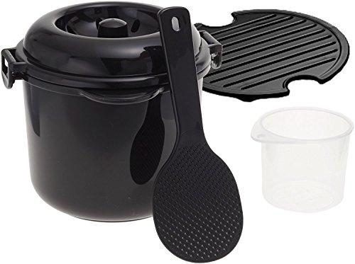 カクセー『電子レンジ専用炊飯器紀州備長炭配合ちびくろちゃん2合炊きプラス(CK-004)』
