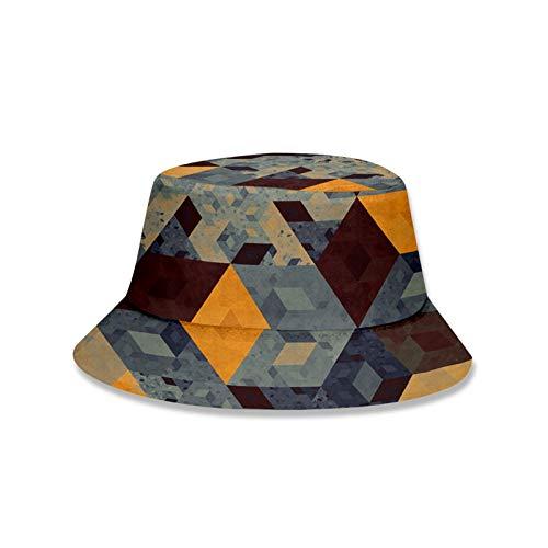 Sombrero Sombrero Estilo Hombre Mujeres Plegable Pescador Sombrero Unisex 3d Impresión Colorida Geometría / De Dibujos Animados Peces Hat Sombrero Protección Sol Protección Sombrero Transpirable Al Ai