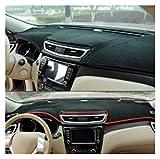 LUJING Cubierta del Tablero de Instrumentos del automóvil Auto Auto Fit para SsangYong Rodius 2007-2018 Center Console Protector Carpet Dashmat 2017 2016 2015 2014 2014 2015