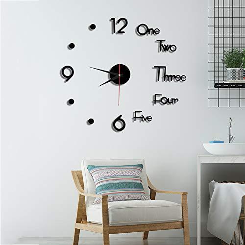 YaYadeer Relojes de Pared, 50 cm DIY 3D Reloj de Pared Grandes,...