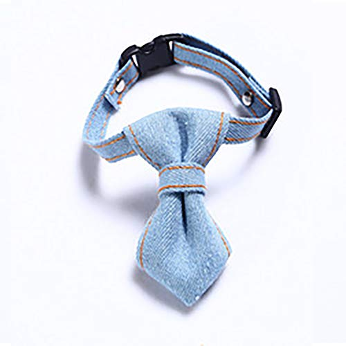 OHHCO Cats Collar Safe Adjustable Handmade Cloth Cute Collar for Down 32cm Neck Circumference Pets,Light