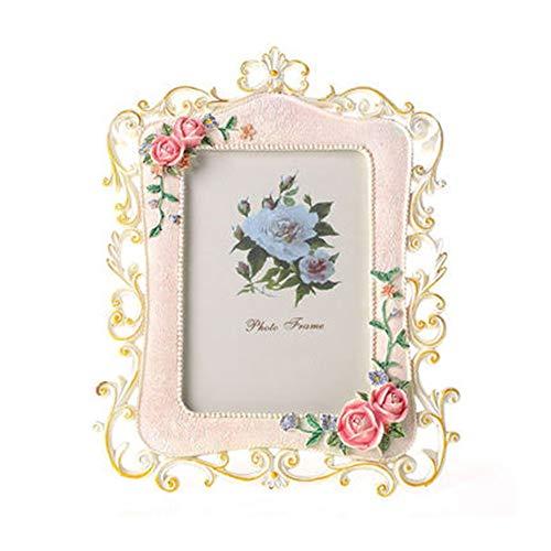 Marco de la Foto Vintage Rose Decoración de Fotos Marco de Amigos Regalos for el hogar Foto de Archivo - Marco de...