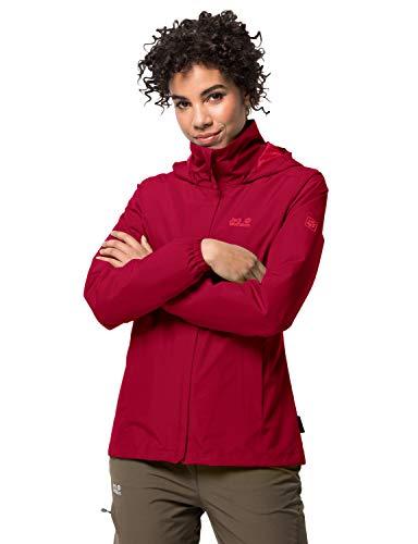 Jack Wolfskin Damen Stormy Point Jacket W atmungsaktive Regenjacke, Rot (scarlet), XXL