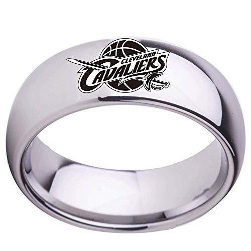 Stijlvolle eenvoudige ringen basketbal sport fans collectie ring hoogwaardige legering ring voor mannen vrouwen mode decoratie/foto/nummer 8, ZS Nummer 9 Afbeelding