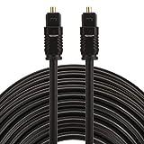 LICHONGGUI ES EMK 25m OD4.0mm Toslink Macho a Macho Cable de Audio óptico Digital Computer Accessories