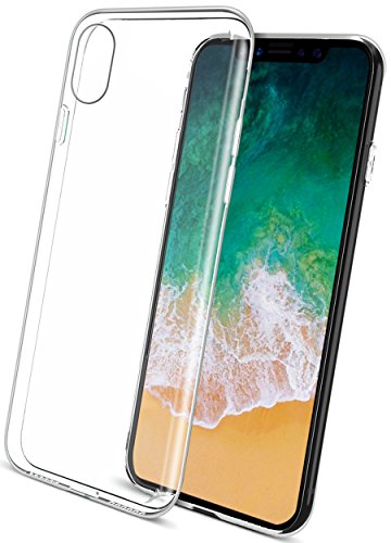 COVERbasics per Apple iPhone X 10 (AIRGEL 0.3mm) Cover Custodia con Bordo Protezione Proteggi Fotocamera TRASPARENTE Silicone Gel Gomma TPU Flessibile Sottile Fina Invisibile Ultra Thin Slim