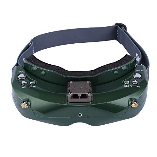 SKYZONE SKY02X 5.8Ghz 48CH Diversity FPV Goggles Support 2D/3D HDMI Head Tracking & Fan DVR Front Camera for RC Racing Drone (Green)