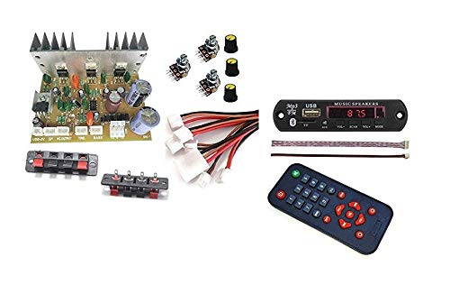 ERH India 2.1 Home Theater Kit Board Amplifier Circuit with Bass Boost and Treble Support TDA2030 Based with Bluetooth FM USB Aux Card MP3 Stereo Audio Player DIY Kit