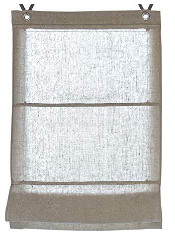 Raffrollo/Ösenrollo Metis Linen 100% Leinen ca. 60 * 140 cm