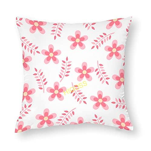 HIGOSS Fundas de almohada de algodón con flores salvajes para sofá, decoración en el hogar, la escuela, la oficina de Dcoration 40 x 40 cm