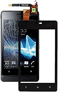 مجموعة إصلاح QFH قطعة لوحة لمس لسوني Xperia go ST27i / ST27a قطع غيار لوحة اللمس للهاتف المحمول