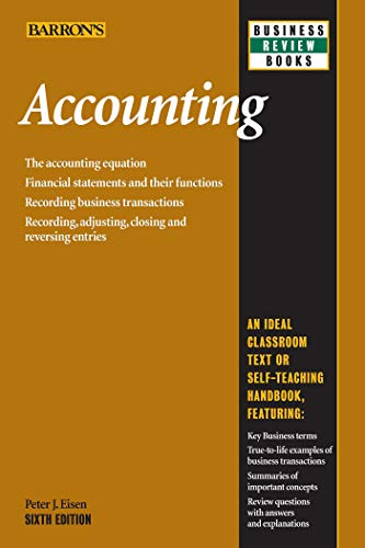 Compare Textbook Prices for Accounting Barron's Business Review Sixth Edition ISBN 9781438001388 by Eisen, Peter J.