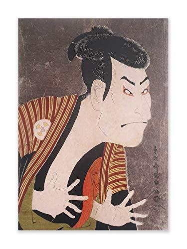 CoolChange Traditionell Japansk Ukiyo e väggbild på hård skumplatta   affisch 30 x 42 cm   Porträtt på en Kabuki skådespelare från Toshusai Sharaku