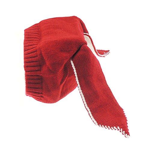 Glamour Girlz Bonnet d'hiver super doux pour bébé fille garçon lapin Pâques oreilles de lapin jusqu'à 3 ans (rouge)