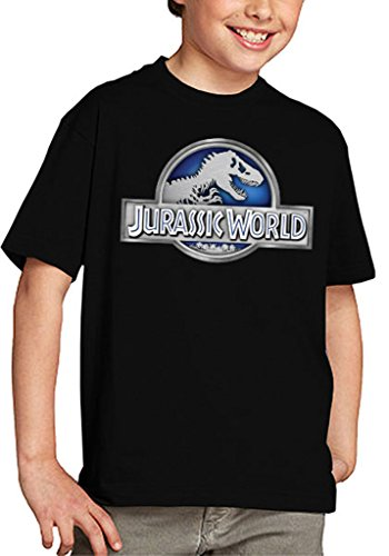 Mx Games Camiseta Jurassic World niños Logo Classic (Todas Las Tallas) (9-10 años)