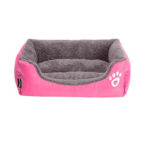 Cama de forro polar para perros de tamaño S-3XL con diseño de pata de pattren, impermeable, para perros grandes, C-XL