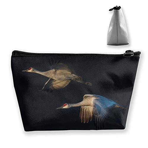 Trousse de maquillage en forme de trapèze - Blanc - Imprimé crane - Sac de voyage - Porte-monnaie
