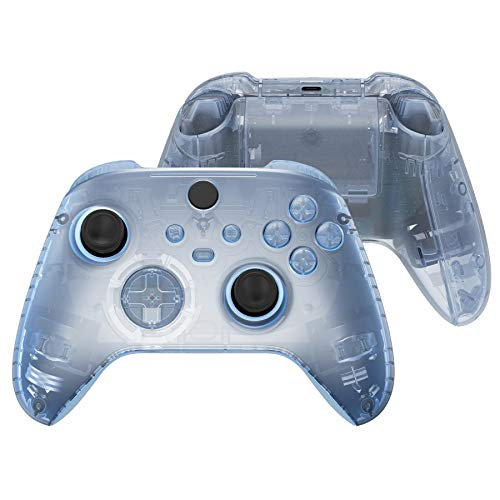 eXtremeRate Glacier Blue Controller Full Set Housing Shell Case w/Buttons for Xbox Series X/S, Custom Replacement Side Rails Front Back Plate Cover for Xbox Series S & Xbox Series X Controller