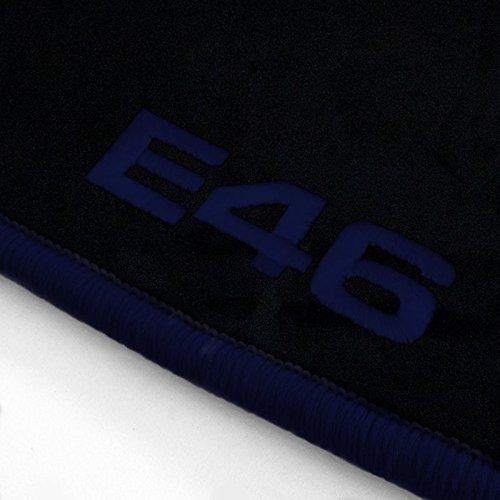 Passgenaue Velours Fußmatten Schwarz mit Logostick ATS-Q300_E46-312_BMW_014