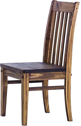 Brasilmöbel 2X Esszimmerstuhl Classico Eiche antik - Holzstuhl Klassik Pinie Massivholz Echtholz - Variante & Farbe wählbar - Stuhl Holz Wohnzimmerstuhl Lehnenstuhl Lehne Küchenstuhl Landhaus