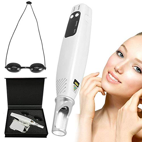 Skin Beauty Device, Professional Handheld LED Picosecond Pen Tattoo Machine for Face Hand Skin Caring