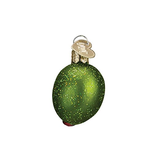 Old World Christmas Vegetables Glass Blown Ornaments for Christmas Tree, Stuffed Green Olive