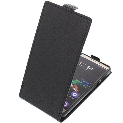 foto-kontor Tasche für Oukitel K6000 Pro Smartphone Flipstyle Schutz Hülle schwarz