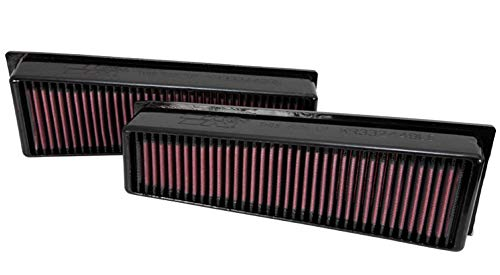 K&N Engine Air Filter: High Performance, Premium, Washable, Replacement Filter: 2009-2014 BMW (X5 M, X6 M), 33-2449