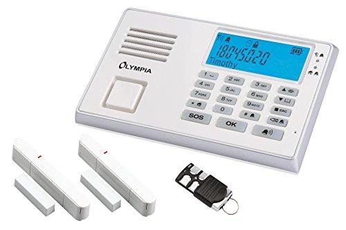 Olympia 5961 Protect 9035 Drahtlose GSM Alarmanlage mit Notruf und Freisprechfunktion, AppSteuerung mit ProCom App, weiß