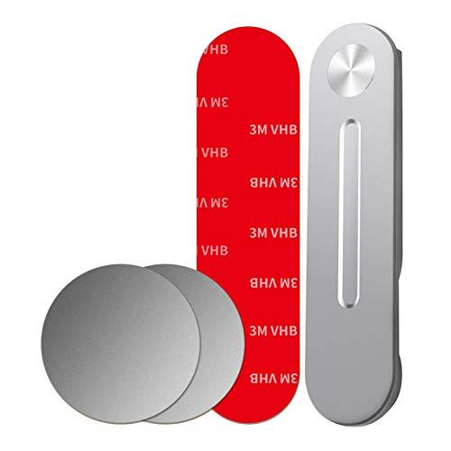 AKlamater - Staffa di espansione per notebook in lega di alluminio, regolabile, per telefono cellulare, pieghevole, 2 in 1, colore: grigio argento