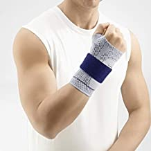 Bauerfeind - ManuTrain - Wrist Support - Relieves Strain and Stabilized During Movement - Right Wrist - Size 3 - Color Titanium