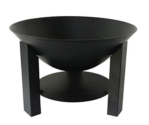 Lienbacher Brasero en métal Revêtement noir Hauteur 40 cm