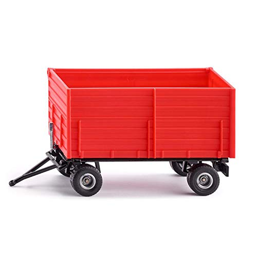 SIKU 2898, Zwei-Achs-Anhänger, 1:32, Metall/Kunststoff, Rot, Kippbare Mulde