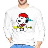 ブルームン Tシャツ 長袖 スヌーピー トレーナー シャツ 上着 ファッション カットソー Xl White 綿 メンズ レディース