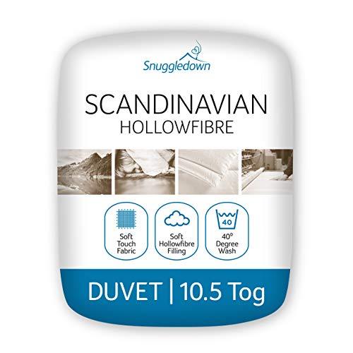Snuggledown Täcke med skandinavisk ihålig fiber, polyester, vit, dubbelsäng