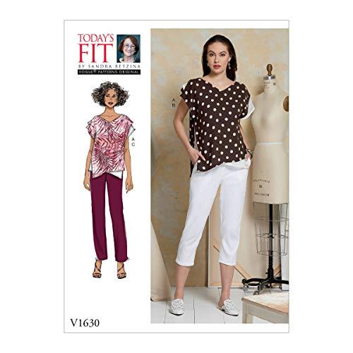 Vogue V1630A Schnittmuster für Damen von Sandra Betzina, lockere Ober- und Schlupfhose, Schnittmuster von Today's Fit