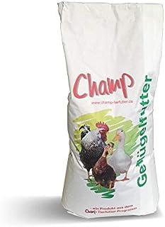 Champ Geflügelkörnerfutter, 25 kg Hühnerfutter geprüft mit Muschelschalen ohne Gentechnik VLOG