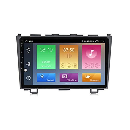 9 Pulgadas Android 10 Autoradio 1 DIN Estéreo de Coche para Honda CRV 2006-2012 Soporte AHD Cámara de Vista Trasera GPS Radio Audio Video Bluetooth Am FM WiFi SWC DSP Dab+,M500
