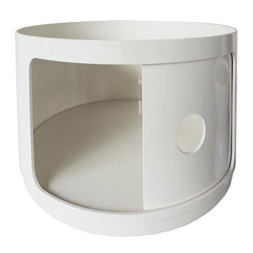 Kartell 495503 Baukastenelement Componibili rund undurchsichtig Durchmesser 42 x 38,5 cm ABS, weiß