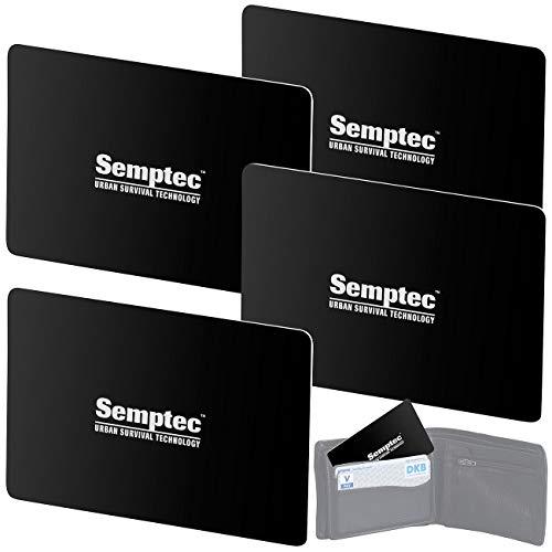 Semptec Urban Survival Technology Kreditkartenschutz: 4er-Set RFID- & NFC-Blocker-Karten im Scheckkarten-Format (RFID Schutzkarte)
