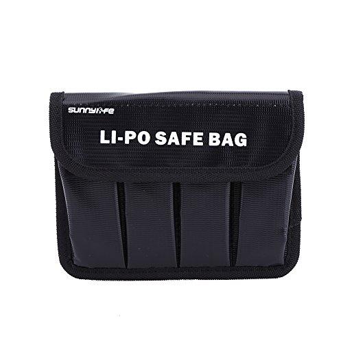 Dilwe Bolsa Seguro de Lipo Batería, Estuche Portátil a Prueba de Explosiones del Protector del Bolsa de Almacenaje de Lipo Batería para dji OSMO / OSMO Móvil