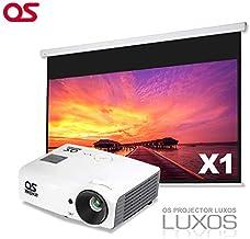 【ステイホーム・期間限定特価キャンペーン/セット品】100インチ 手動 スクリーン OS オーエス X1-100H/SVGAプロジェクター LUXOS ルクソス LP-300SV1