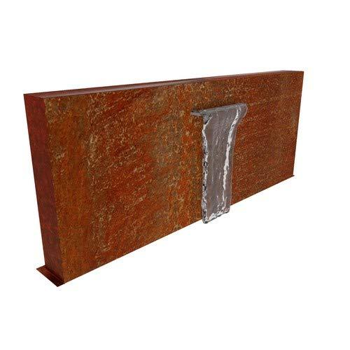 Round Wood Wefe Free Standing Corten Steel Pond Wall 200cm - Water Feature - Garden Design