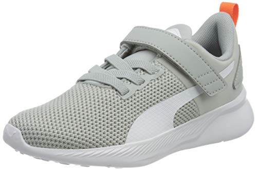 Puma Unisex-Kinder Flyer Runner V Ps Sneaker, Grau (High Rise White-Firecracker-Castlerock), 28 EU