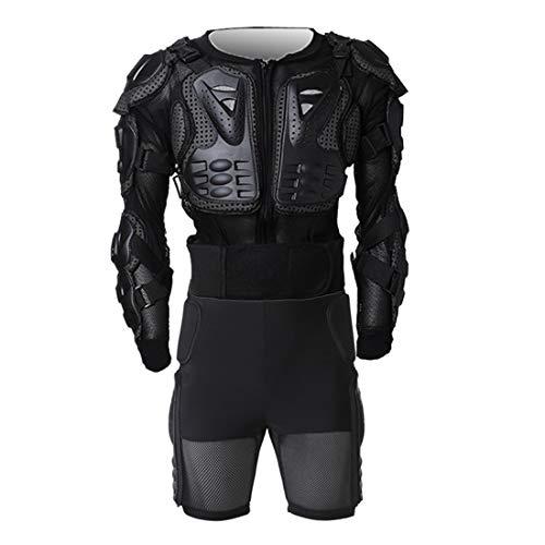FULUOYIN Motorrad Protektorenjacke mit Hose Panzer Protektorenhemd für Radfahren Reiten Motorrad Fahren S-5XL