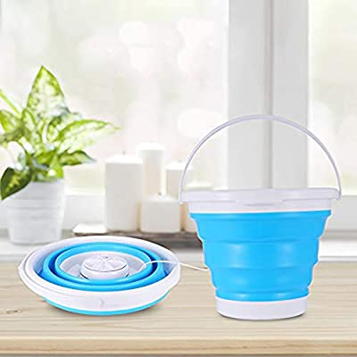 Kascoo 3 in 1 Turbo Washing Machine Foldable Tub Mini USB 1KG Laundry Washer Weight with 99.98 Sterilization Capacity for Travel, Water-Saving and Energy-Saving