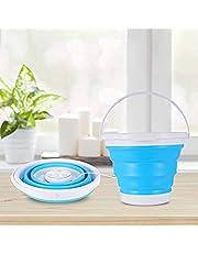 Kacsoo Mini lavadora plegable 3 en 1, tina de lavandería plegable portátil, lavadora de turbina con USB, lavadora pequeña, lavadora de ropa de bebé para calcetines ropa interior,Lavatrice USB