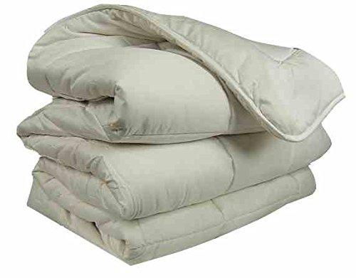 Couette Pure LAINE Vierge - Confort et Chaleur - régulation de l'humidité - OURSON - Ecru A1 - 240 x 260